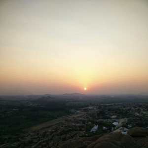 February_22__2015_at_0151PM_Sunset_over_Hampi._Lots_of_Hippies_around_here.__sorrynils